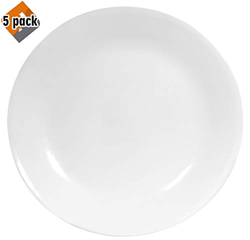 Corelle Winter Frost White Dinner Plates Set (10-1/4-Inch, 6-Piece) - 5 Pack