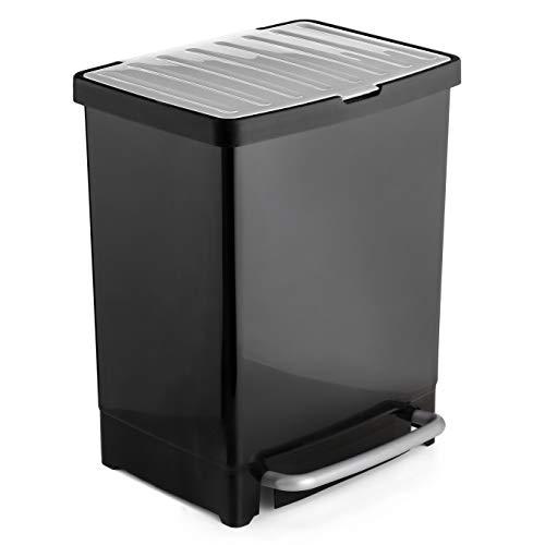 Tatay 1101600 Cubo Reciclaje, Negro, 33.50x31.00x42.00 cm
