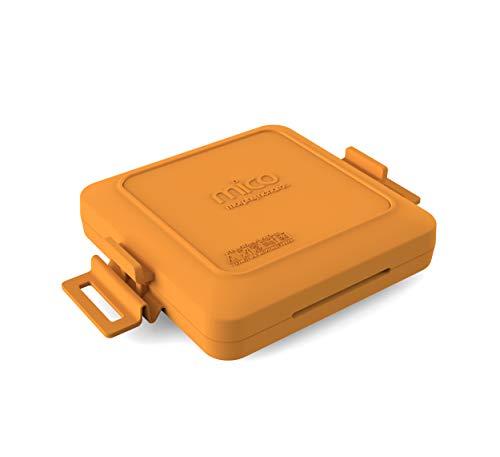Morphy Richards 511644 MICO Sandwichtoaster Kochgeschirr für die Mikrowelle, Silikon und beschichtetes Metall, Orange