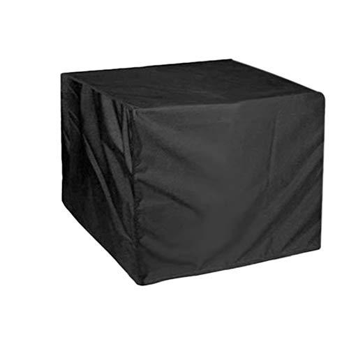 AWSAD Cubierta de Mesa, Cubiertas cuadradas para Muebles de jardín, Cubiertas de Mesa para Exteriores Impermeables para Patio (Color : Negro, Size : 80x80x80cm)