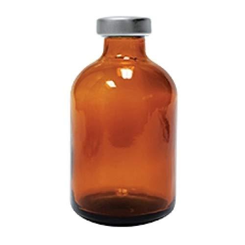 2 Pack 30ml Empty Amber Borosillicate Sealed...