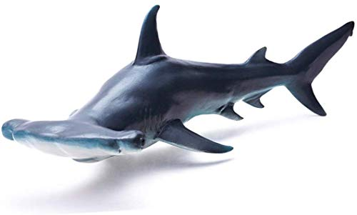 Gemini&Genius Sea Life Great White Shark Action Figure Megalodon Shark Model Toy Soft Rubber Realistic Ocean Shark Educational and Role Play Toys for Kids and Collectors (Hammerhead Shark)