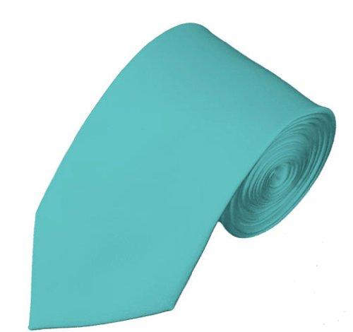 Mens Solid Color 2.75' Slim Tie - Aqua