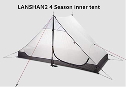 DYGZS tent Eople Oudoor Ultralight Camping Tent 3/4 Season 1 Single 15d Nylon Silicon Coating Rodless Tent 4 seaosn inner tent