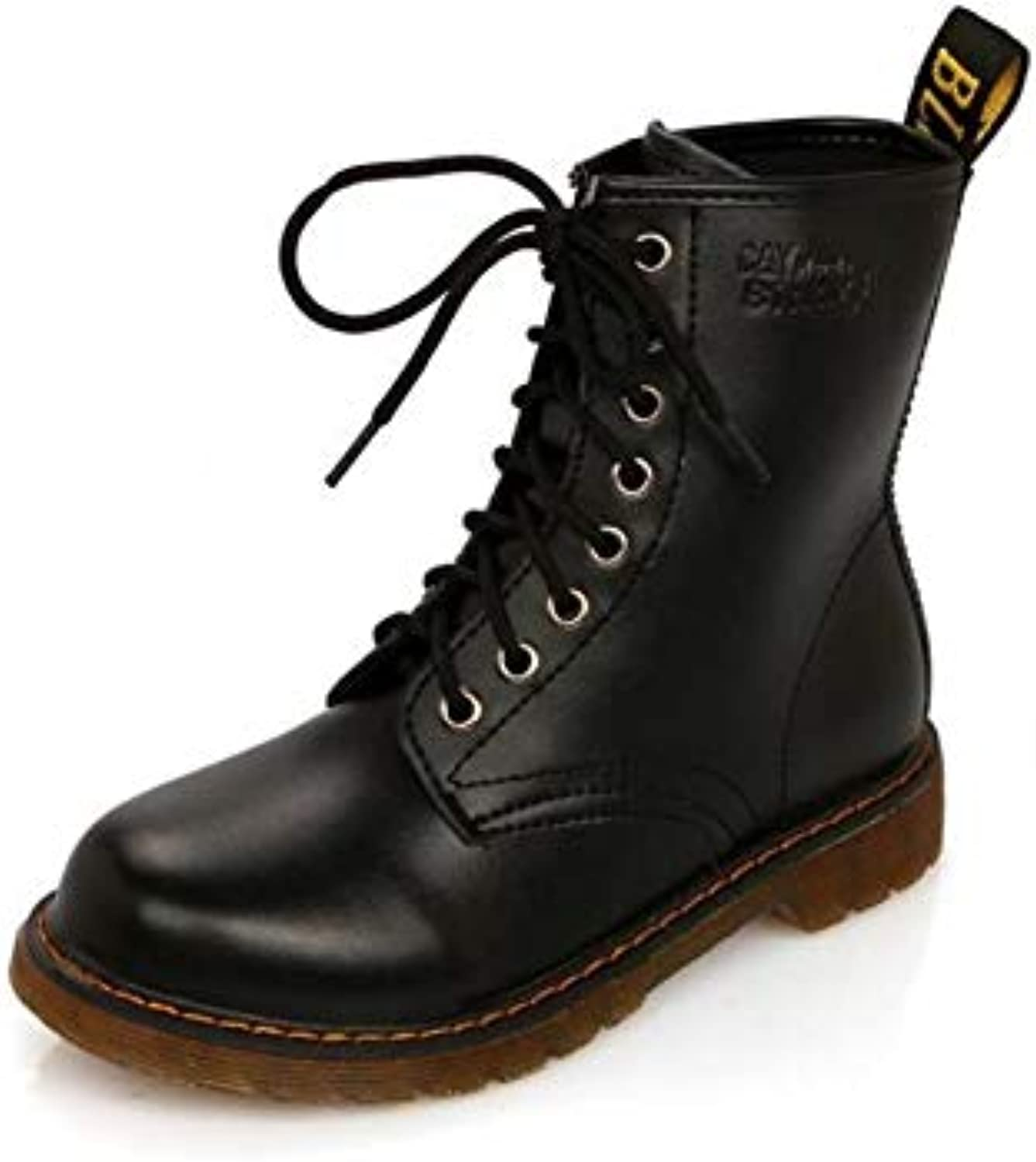 Meimeioo Women's Military Combat Boots Lace Up Riding Boots Martin Boots
