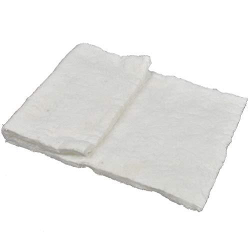 Kesheng Manta de Fibra Cerámica Ignífuga 30cm x 61cm Espesor 10mm de Aislamiento de Calor