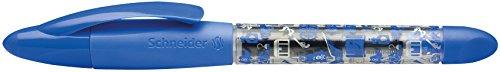 Schneider Schreibgeräte Patronenroller Base Ball, mit Kugelspitze, M, blau-transparent Motiv Pirat