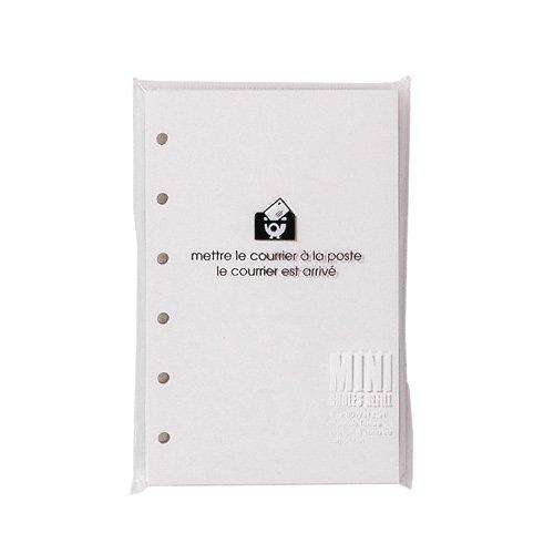 エトランジェディコスタリカ ミニレフィルブランクホワイト SREFーFー01 10冊