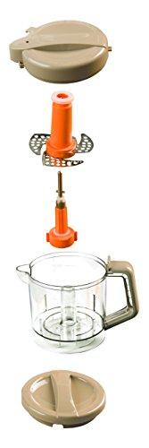 Nuvita 1966 Pappasana Vapor Combo 6 In-1 Babynahrungszubereiter – Dampfgarer – Flaschenwärmer – Homogenisator – Entfroster – Stahlklingen Mixer – Babynahrung – Vaporisator – Italienisches Design - 6
