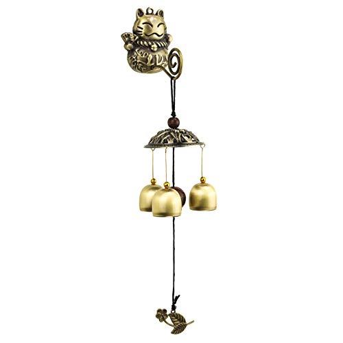 Nieuwe Kat Hanger Handgemaakte Deurbel Japanse Shop Opening Mooie Vintage Wind Bell Hanger Koper Wind Chimes Opknoping Decoraties
