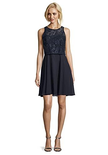 Vera Mont Damen 0102/4825 Kleid, Blau (Night Sky 8541), (Herstellergröße: 34)
