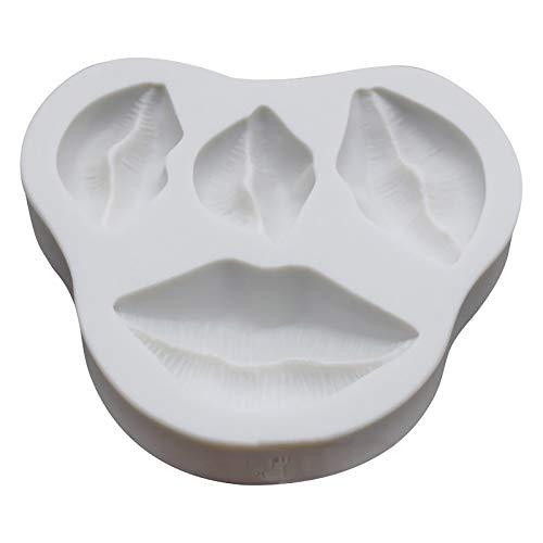 Molde de silicona con diseño de labios, 4 tamaños, molde de labios, molde de jabón hecho a mano, molde para fondant, decoración de tartas de Navidad, fiesta de fin de semana
