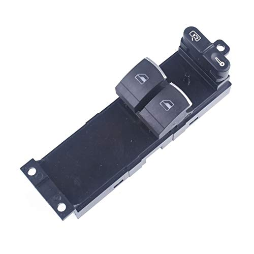 Fangaichen Master Electronic Window Control Interruptor para VW Golf MK4 Passat B5 para Seat Leon Toledo 2 Puerta 1J3 Adecuado para el Coche