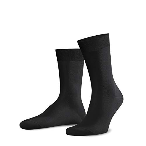 moresocks Luxus Business-Socken schwarz Gr. 39-42 - (5 Paar) - Markengarne - gekämmte, langfaserige Baumwolle, Tactel & Lycra by Dupont
