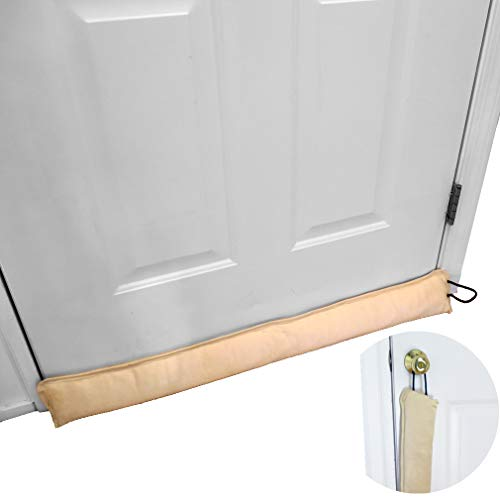 Evelots Door/Window Draft Stopper-Hanging Cord-36 Inch-Block Cold Air/Noise
