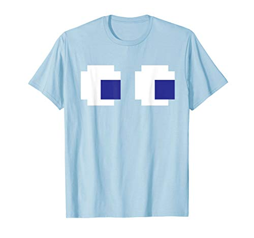 Pac-Man Ghost Eyes T-shirt Costume for Men, Women or Youth, in 5 colors