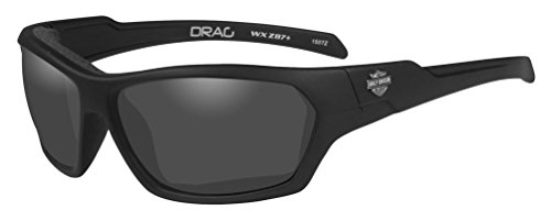 HARLEY-DAVIDSON Wiley X Drag Smoke Grey Motorrad Brille