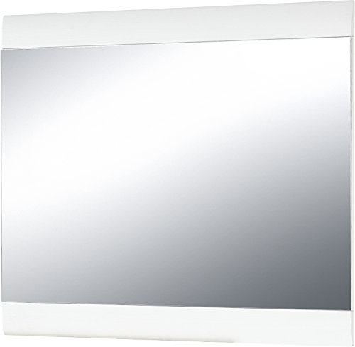 Germania Miroir 3967, Bois, Blanc, 87 x 3 x 76 cm