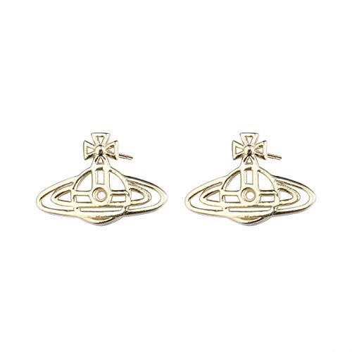 Lotus Fun S925 - Orecchini in argento Sterling placcato oro 18 k, eleganti e creativi, motivo Kosmo, ideali per donne e ragazze