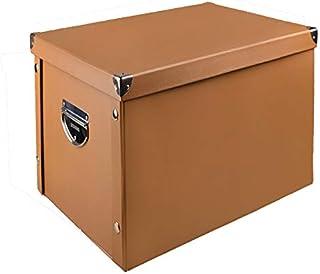 【全8色】HQUEC 収納ボックス 折り畳み 収納ケース 大容量 蓋つき 取っ手付き おもちゃ箱 書類 衣類 日用雑貨 防水 頑丈(ブラウン、38×33×30cm)