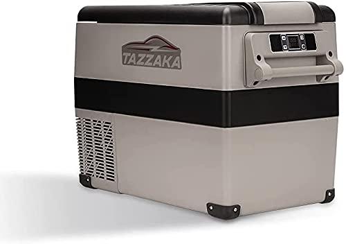 Tazzaka Kompressor-Kühlbox 45 Liter, 12/24V und 230 V, Elektrischer Kühlschrank für Auto, LKW, Boot, Reisemobil und Steckdose,Leise