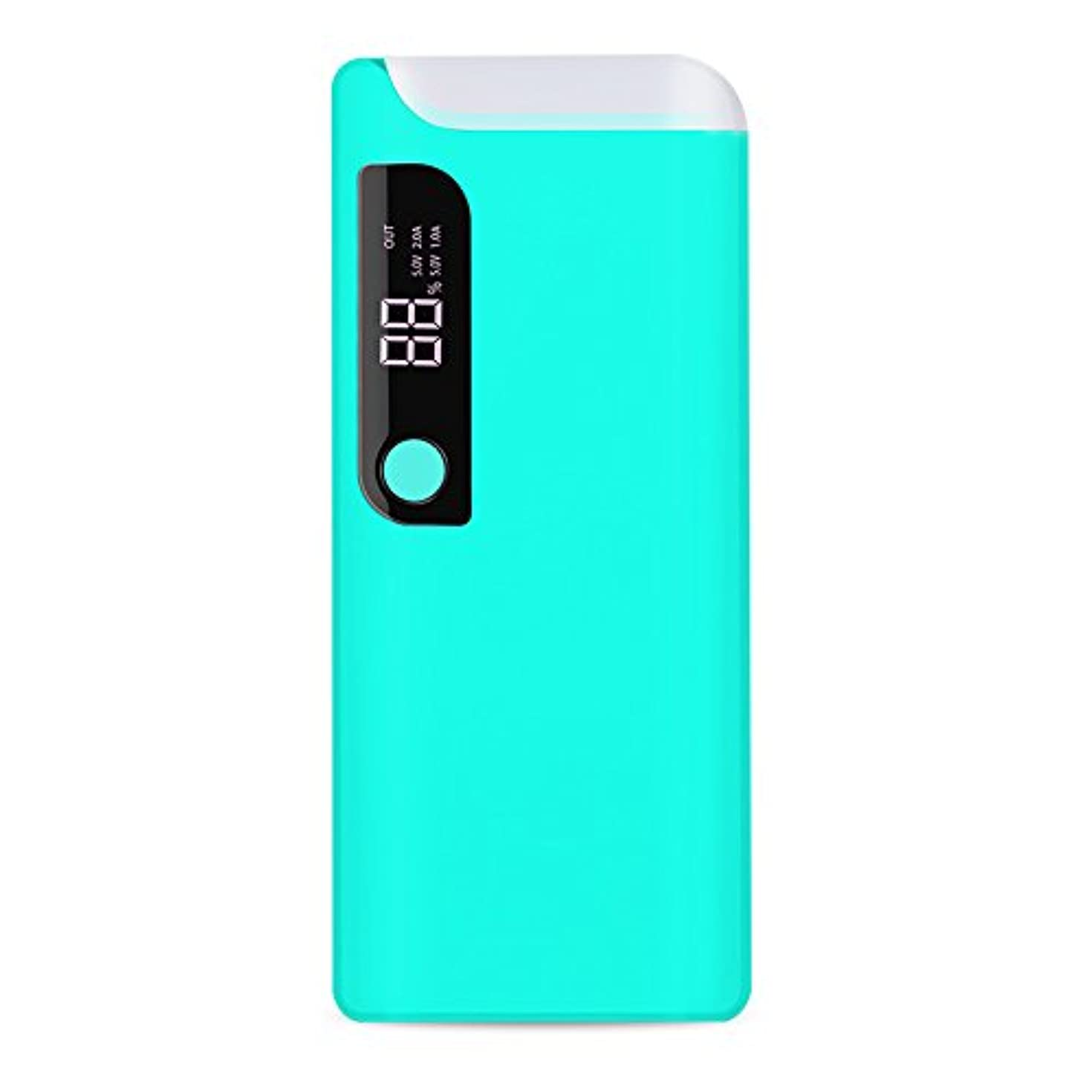 15000Mah Portable Charger, BBtech Power Bank with LED Rotating Table Lamp Universal Battery Charger External Battery Pack, External Power Source (Teal)