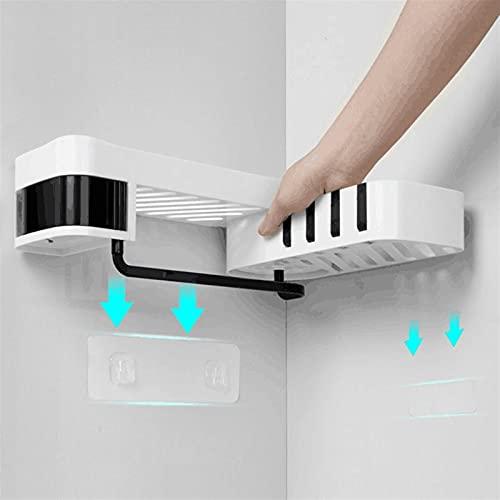 HEHXKJ Badezimmerregal Eck-Dusch-Regal Badezimmer-Shampoo-Duschregal-Halter-Küchen-Nagel-freie Speicher-Rack-Organizer-Wandmontage-Rack-Lagerung