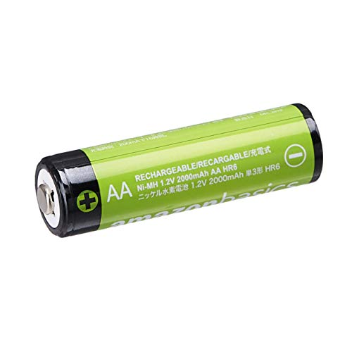 Amazonベーシック充電池充電式ニッケル水素電池単3形8個セット(最小容量1900mAh、約1000回使用可能)