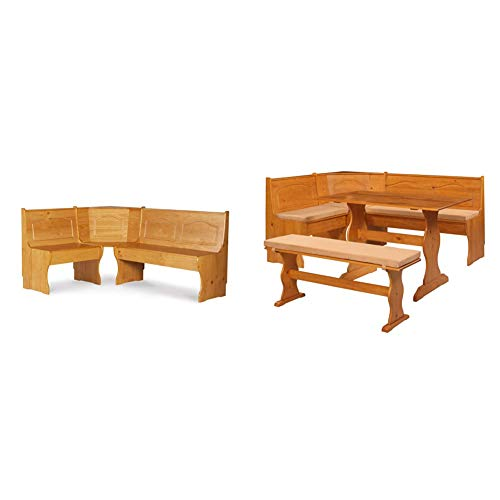 Linon Chelsea Kitchen-Nook Corner Unit & Chelsea Cushion Set