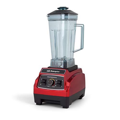 Orbegozo BV 9600 - Batidora de vaso profesional, capacidad 2,2 litros, libre de BPA, regulador de potencia y función turbo, apta para alimentos sólidos y líquidos