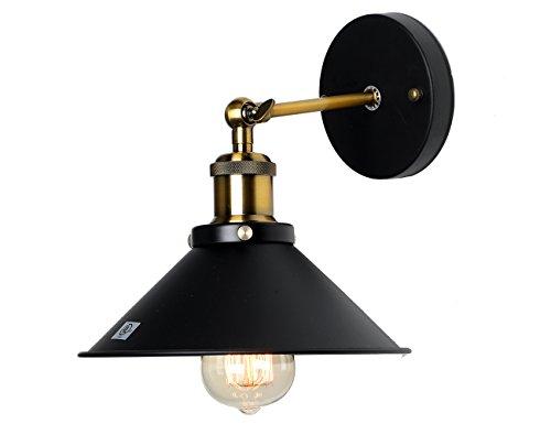 Pauwer Wandleuchten Industrial Vintage Wandlampe E27 Innen Retro Wandleuchten für Schlafzimmer Wohnzimmer Esstisch (Ohne Leuchtmittel)