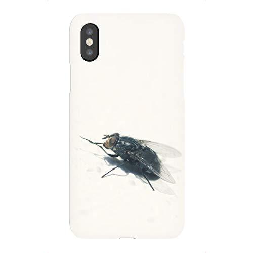 artboxONE Premium-Case Handyhülle für Apple iPhone X Mono-Fliege von Ralf K. Lang