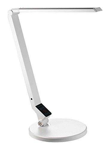 ALCO-Albert 9219-10 - Schreibtischleuchte, 5-fach dimmbar, weiß
