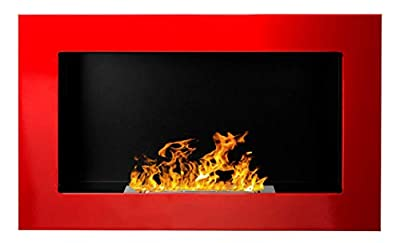 Bio Ethanol Fire BioFire Fireplace Modern 650 x 400 Red …