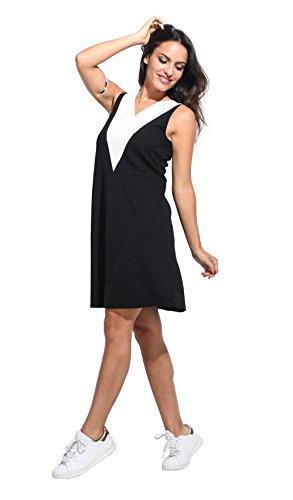 Vestido ADELE negro/blanco