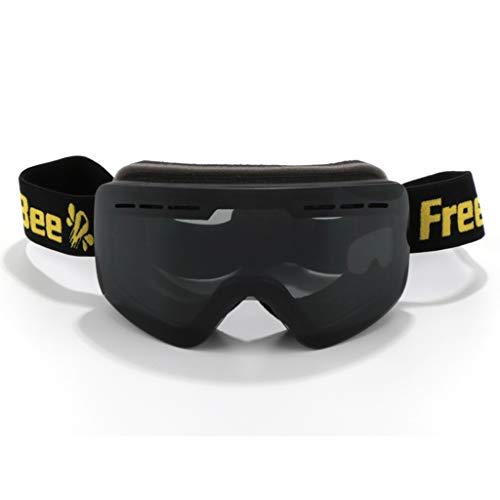 Yxx max veiligheidsbril skibril 2018 dubbele anti-condens-spiegel met verwisselbare lenzenbril
