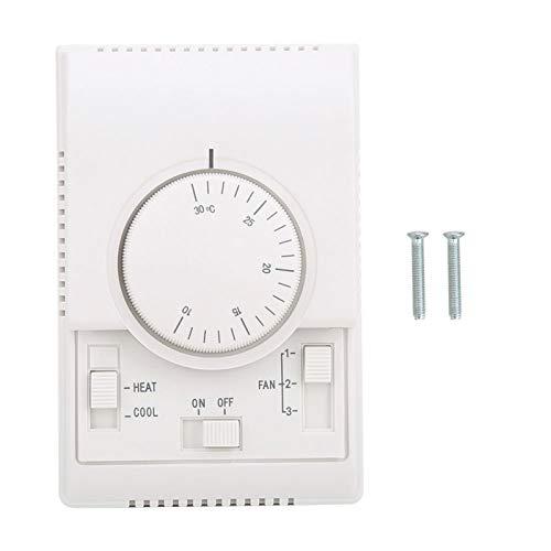 Controlador de temperatura mecánico wsk-7 1pcs para termostato de aire acondicionado montado en superficie 10-30 ℃ AC220V