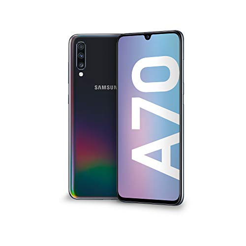 "Samsung Galaxy A70 Smartphone, Display 6.7"" Super AMOLED, 128 GB Espandibili, RAM 6 GB, Batteria 4500 mAh, 4G, Dual Sim, Android 9 Pie, [Versione Italiana], Black"