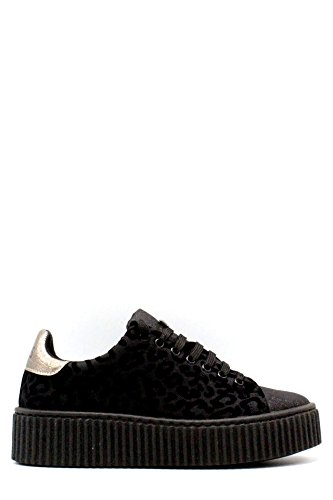 GUESS sneakers platform leopardate TESSUTO BLACK NERO FLDEN3FAB12 inverno 2018