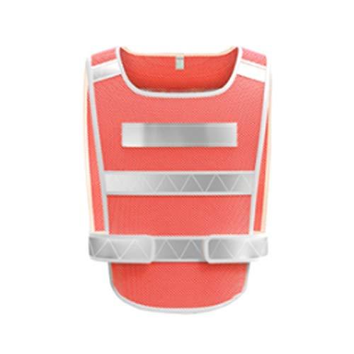Xyhcs Chaleco Reflectante, Noche Chaleco for la construcción, reflexivo SafetySuit, Riding Chaleco Reflectante (Color : Red)