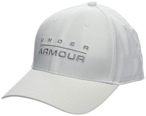 Under Armour Herren Wordmark STR Kappe, Weiß, X-Large