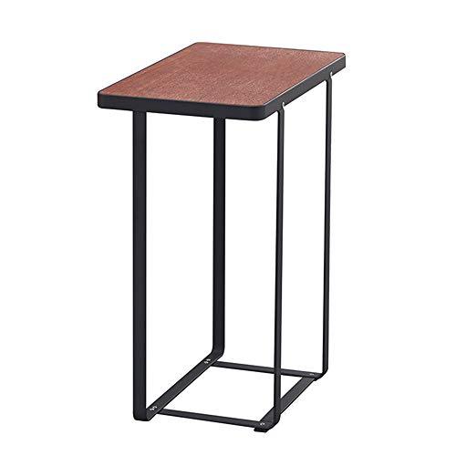 Table pliante YANFEI, Table Basse de Fer de Sofa de Salle de séjour de Table d'appoint Petite Table d'appoint Table de Rangement de comptoir en Bois Massif, 40.5 * 24 * 49cm (Color : A)