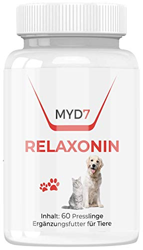 Relaxonin | Zusatzfutter für mehr innere Ausgeglichenheit bei Hund und Katze | pflanzliches Mittel | 60 Presslinge