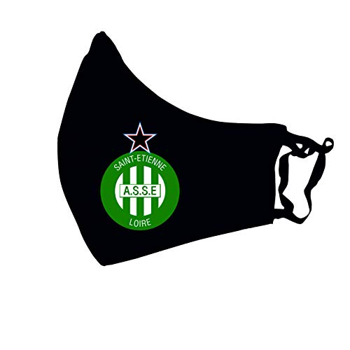 CHILDREN'S MASK AND WASHABLE COTTON ADULT FOR FOOTBALL TEAMS (SAINT ETIENNE, ADULT)