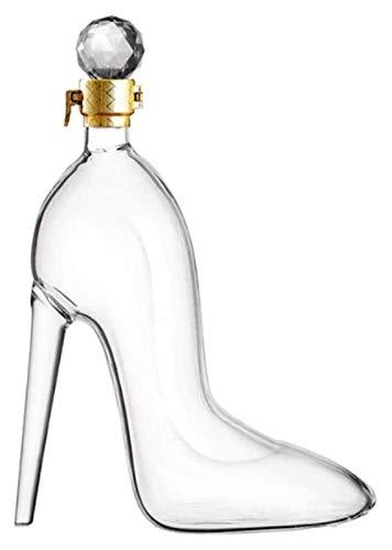 SYZHIWUJIA Decantador de Whisky High Heels Modeling Decantador de Alta Capacidad para Whisky Ron Vino espíritu Licor, Mejores Regalos para Padre y Esposo Licorera (Color : High Heels, Size : 750mL)