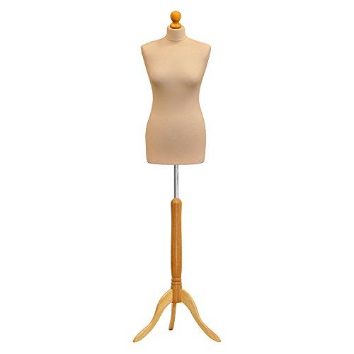 The Shopfitting Shop Mannequin de vitrine/buste de couture sur trépied en bois Femme Taille 36