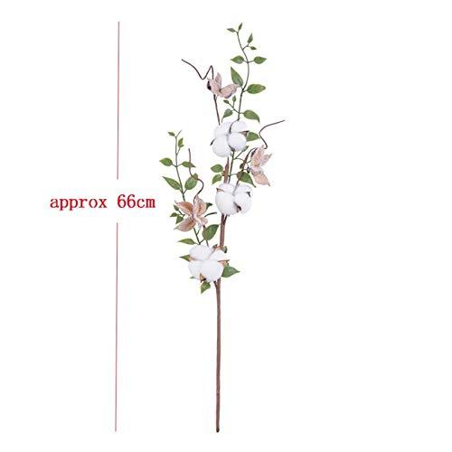 LUCHAO Künstliche Blumen Natürlich Dry Cotton Vorbauten Bauernhof Künstliche Blumen gefüllte Blumendekoration Künstlich Cotton Kränze Startseite Hochzeit Dekoration Künstliche Blumen (Farbe : StlyeC)