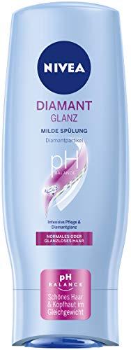 NIVEA Diamant Glanz Milde Spülung (200 ml), pflegende Haarspülung mit Diamantpartikeln, intensive Pflegespülung für normales und stumpfes Haar