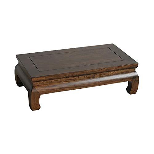 Beistelltische Ulmenholz Tisch Tatami Couchtisch Home Bett Tisch Massivholz Schlafzimmer Erker Tisch Traditionelle Zapfen- Und Zapfenstruktur (Color : Brown, Size : 66 * 35 * 21cm)