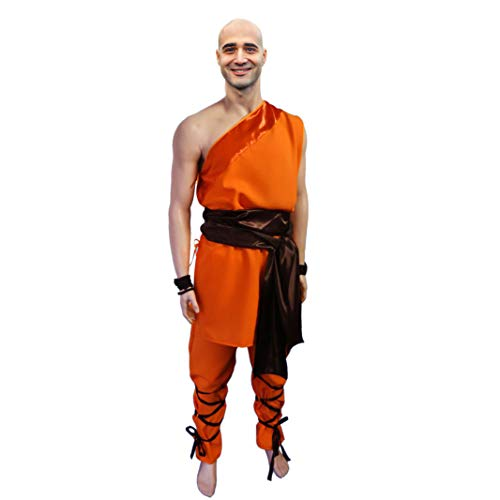 Krause & Sohn Traje de Combatientes Shaolin, tamaño XL, Naranja Monasterio Budista...